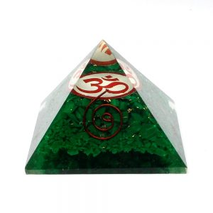 Malachite Orgonite Pyramid All Accessories copper