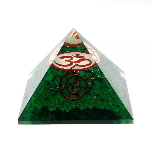 Malachite Orgonite Pyramid Accessories copper