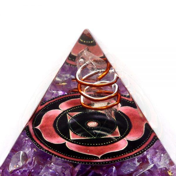 Dyed Quartz Orgonite Pyramid Accessories copper