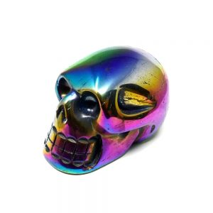 Rainbow Aura Skull All Polished Crystals aura
