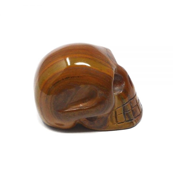 Tiger Eye Skull All Polished Crystals crystal skull
