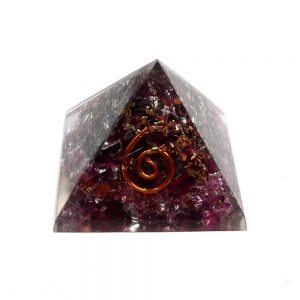 Pink Tourmaline Orgonite Pyramid Accessories copper