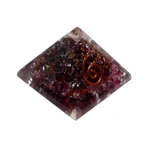 Pink Tourmaline Orgonite Pyramid Accessories copper