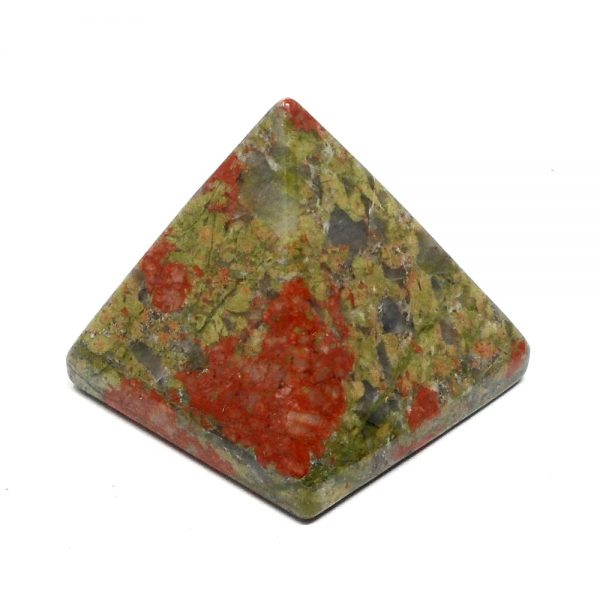 Unakite Pyramid All Polished Crystals crystal pyramid