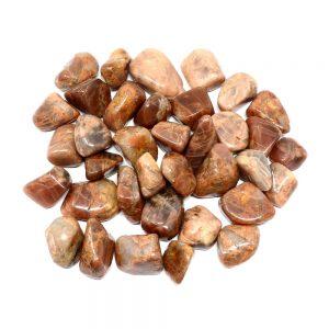 Moonstone, Peach, tumbled, 16oz Tumbled Stones moonstone