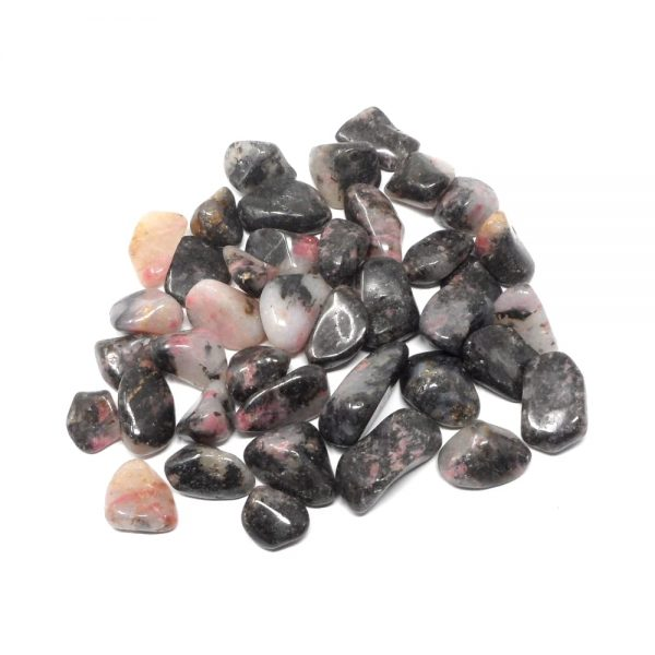 Rhodonite sm tumbled 8oz All Tumbled Stones bulk rhodonite