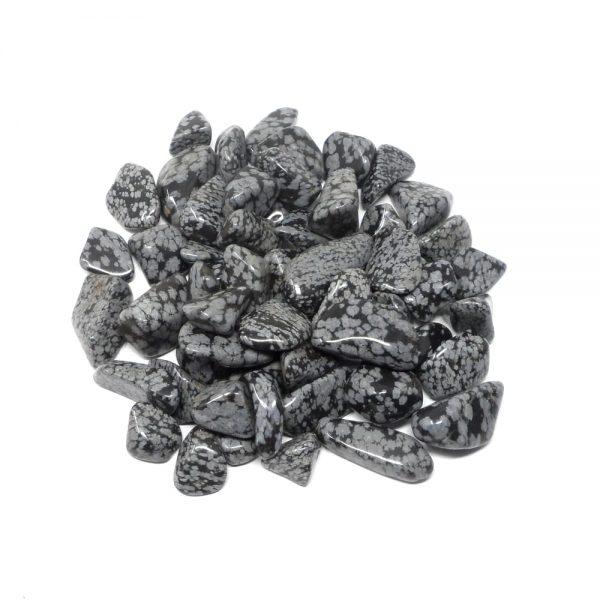 Snowflake Obsidian md tumbled 8oz All Tumbled Stones bulk snowflake obsidian