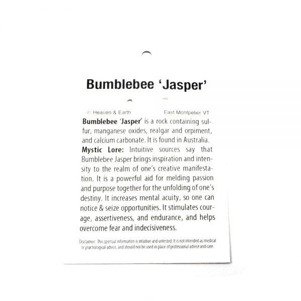 Bumblebee Jasper Pendant All Crystal Jewelry bumblebee jasper
