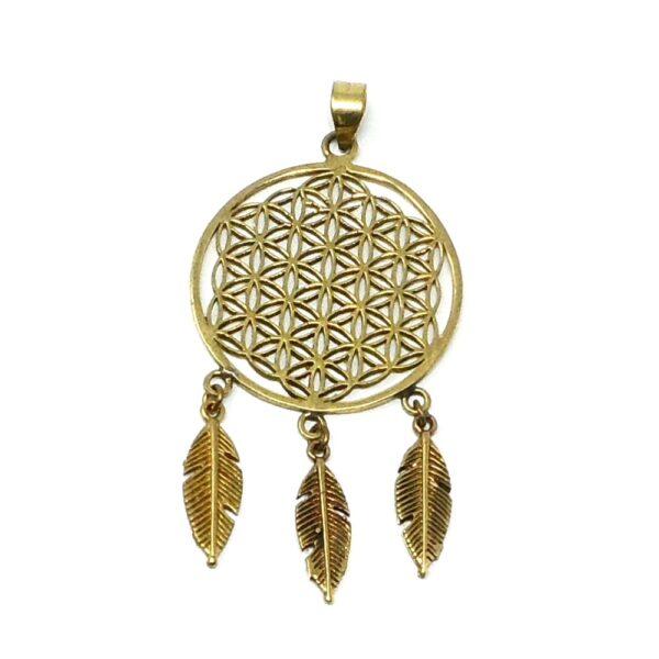 Brass Dream Catcher Pendant All Crystal Jewelry brass