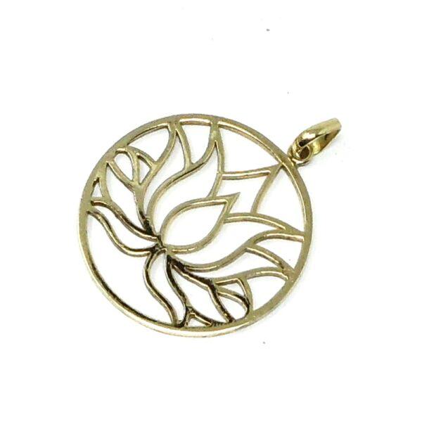 Brass Lotus Pendant All Crystal Jewelry brass