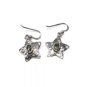 Moldavite Star Earrings Crystal Jewelry crystal earrings
