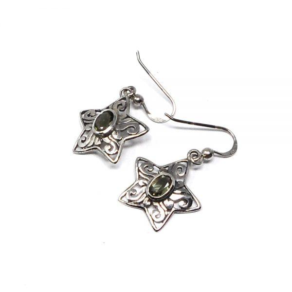 Moldavite Star Earrings All Crystal Jewelry crystal earrings
