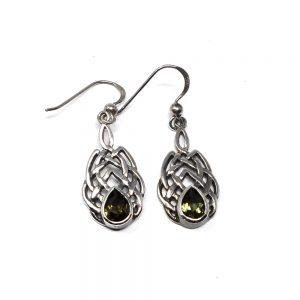 Moldavite Celtic Earrings All Crystal Jewelry crystal earrings