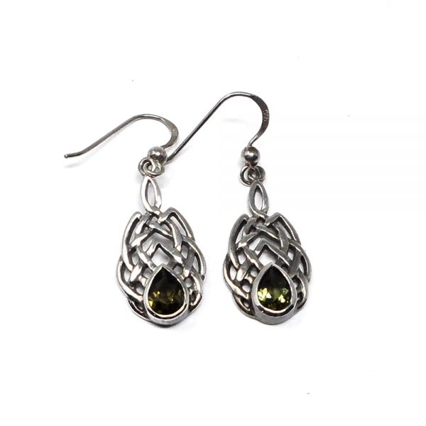 Moldavite Celtic Earrings All Crystal Jewelry crystal earrings