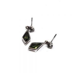 Moldavite and Danburite Earrings All Crystal Jewelry crystal earrings