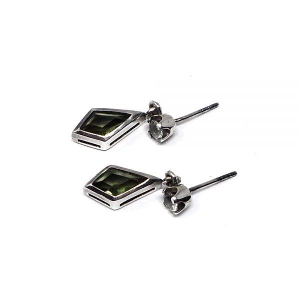 Moldavite and Danburite Earrings All Crystal Jewelry crystal earrings