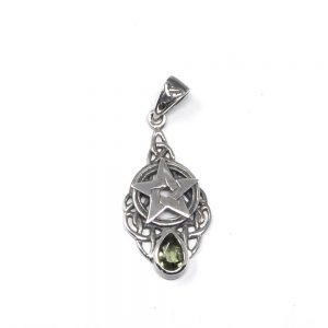 Moldavite Celtic Pendant All Crystal Jewelry authentic moldavite