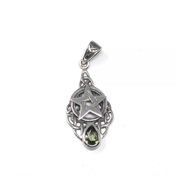 Moldavite Celtic Pendant All Crystal Jewelry authentic moldavite