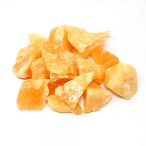 Orange Calcite 16oz All Raw Crystals bulk calcite