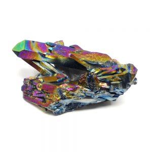 Rainbow Aura Quartz Cluster All Specialty Items arkansas quartz