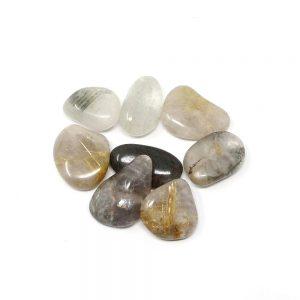 Rutilated Quartz md tumbled 4oz Tumbled Stones chlorite quartz