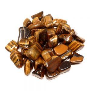 Tiger Eye, Gold, LG tumbled, 16oz Tumbled Stones bulk crystals