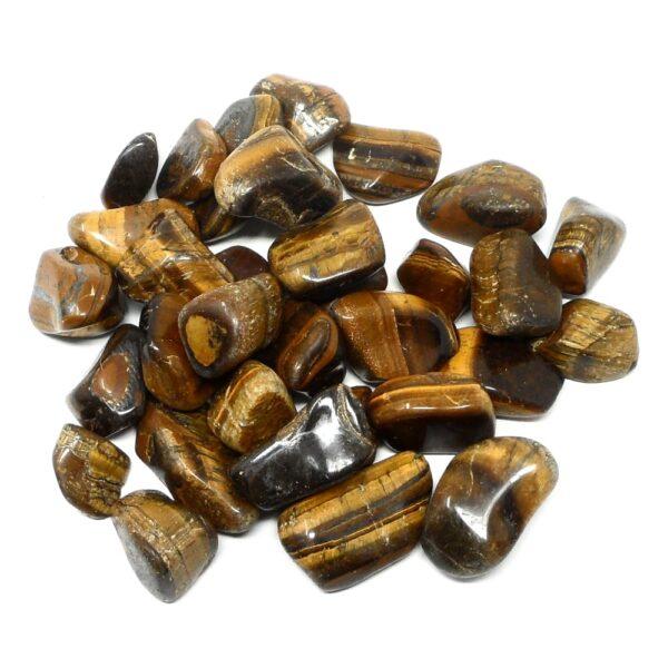 Tiger Eye lg tumbled 16oz All Tumbled Stones bulk crystals