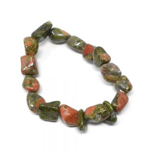 Unakite Tumbled Stone Bracelet All Crystal Jewelry bracelet
