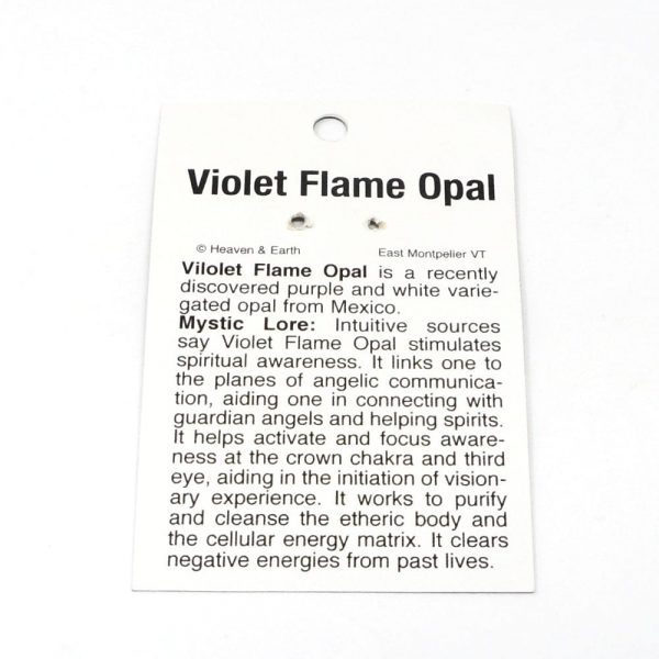 Violet Flame Opal Pendant All Crystal Jewelry opal