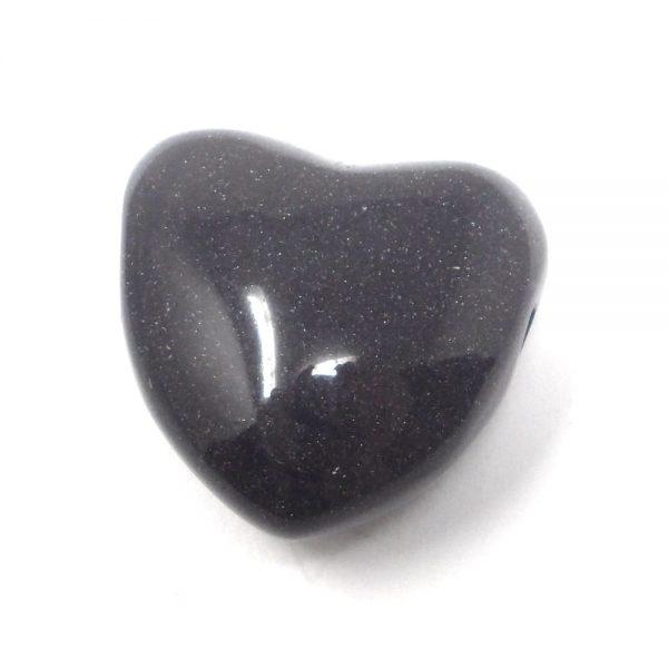 Blue Goldstone Heart Pendant All Crystal Jewelry blue goldstone