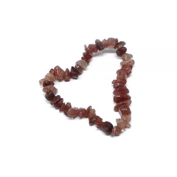 Burgundy Quartz Single Strand Chip Bracelet All Crystal Jewelry bracelet