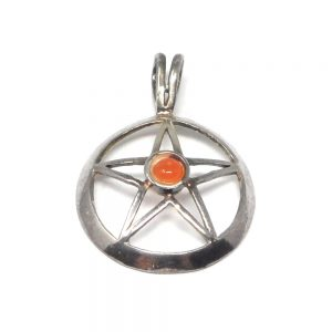 Star with Carnelian Pendant Crystal Jewelry carnelian healing properties