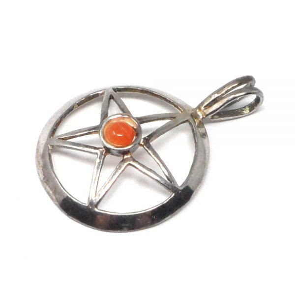 Star with Carnelian Pendant All Crystal Jewelry carnelian healing properties