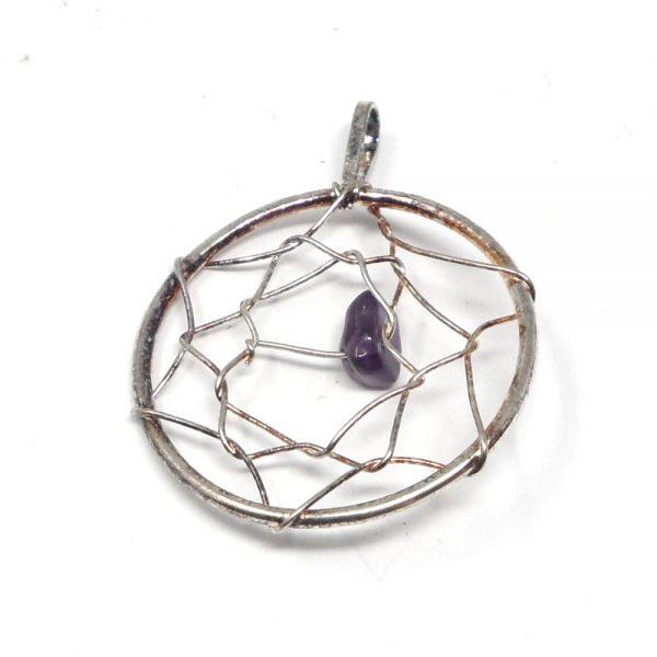 Amethyst Dreamcatcher Pendant All Crystal Jewelry amethyst