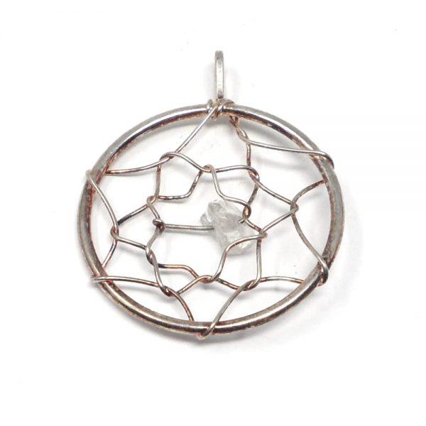 Clear Quartz Dreamcatcher Pendant All Crystal Jewelry clear quartz pendant