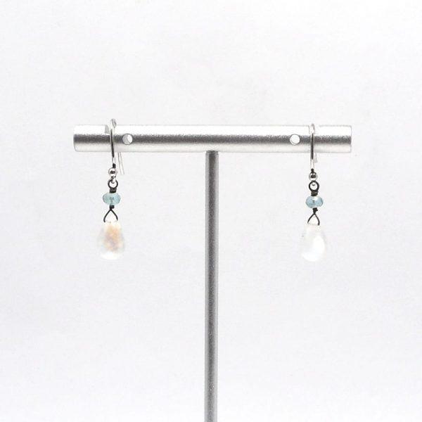 Rainbow Moonstone Earrings All Crystal Jewelry blue apatite