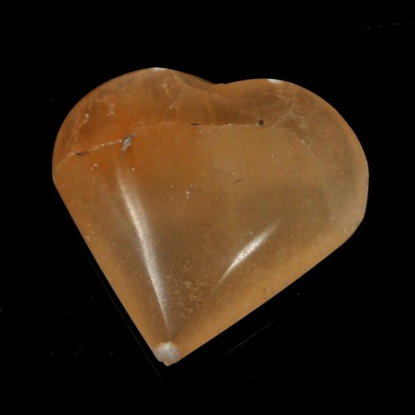 Orange Selenite Heart All Polished Crystals crystal heart