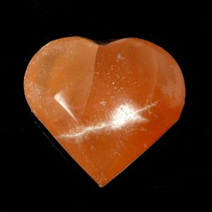Orange Selenite Heart Polished Crystals crystal heart
