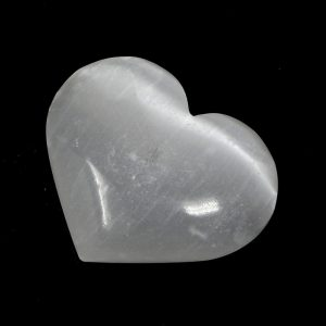 Selenite Heart Polished Crystals crystal heart