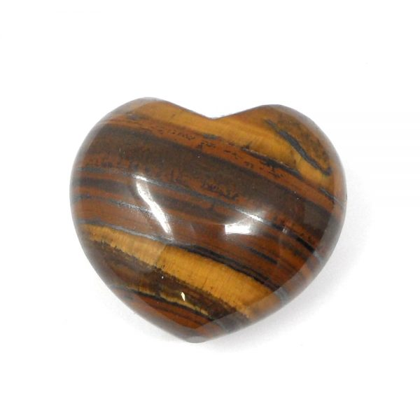 Tiger Eye Heart All Polished Crystals crystal heart