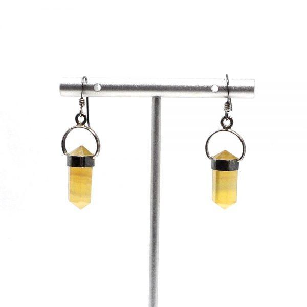 Yellow Fluorite Earrings All Crystal Jewelry earrings