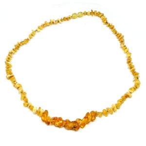 Amber Chip Bead Necklace Unique Gift Ideas amber