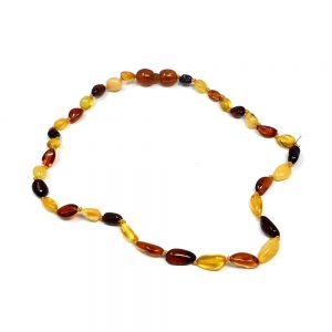 Amber Chip Bead Necklace All Crystal Jewelry amber
