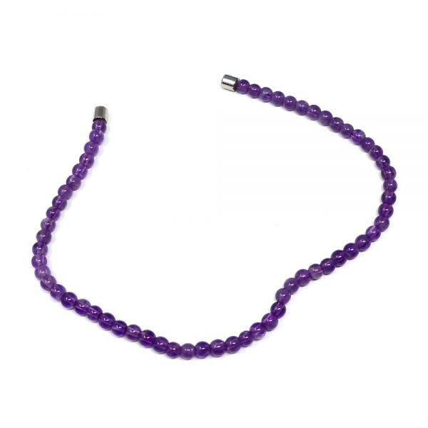 Amethyst Bead Anklet All Crystal Jewelry amethyst