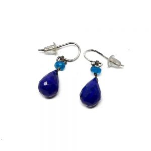 Lapis & Blue Apatite Earrings Crystal Jewelry apatite earrings