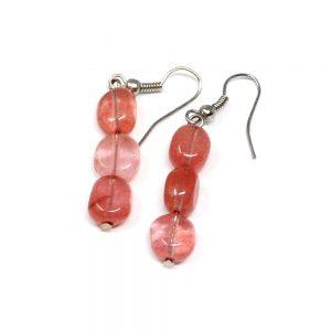 Cherry Quartz Earrings All Crystal Jewelry cherry quartz