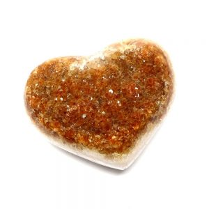 Citrine Druzy Heart All Polished Crystals Citrine