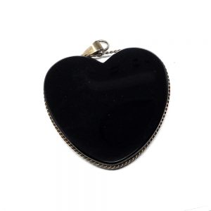 Obsidian Heart Pendant All Crystal Jewelry black obsidian