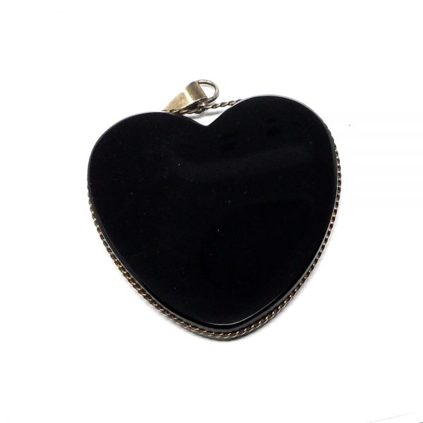 Obsidian Heart Pendant All Crystal Jewelry black obsidian