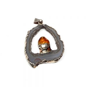 Oco Pendant with Citrine All Crystal Jewelry agate